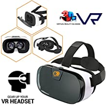 VR Headset 3D Viewer Glasses + Remote Controller, Virtual Reality Box Movies Games Helmet Google Cardboard Upgraded for IOS iPhone 5 6 6s 7 plus, Android Samsung Galaxy S5 S6 S7 Edge Note 4 5