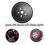 Spare Tire Round LED Brake Lights Red Wheel Tail Lamp Signal Light for Jeep Wrangler JK 2007-2017(2 Yr Warranty)273