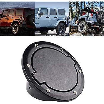 Jeep Wrangler Accessories 2017 >> Tuhoomall Fuel Filler Door Cover Gas Tank Cap For 2007 2017 Jeep Wrangler Jk Unlimited 4 Door 2 Door Cover Accessories Jeep Gas Cap Cover