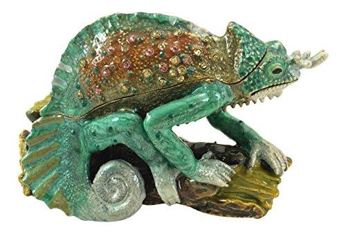 (Kubla Craft Chameleon Trinket Box, Accented with Austrian Crystals )