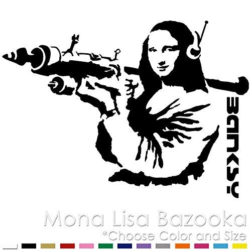 Mona Lisa with Bazooka/Banksy/Vinyl Decal Sticker (ML-01)