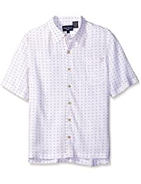 Men's Circle Print Short Sleeve Shirt