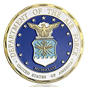 Air Force Military Challenge Coin USAF Core Values Veteran Airman Commemorative Coin by Amazinga