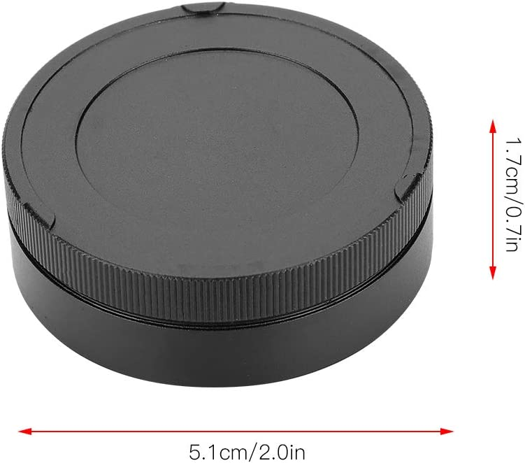Rear Diyeeni Rear Lens Cap Rear Cover Made of Premium Alloy Camera Lid Cover Protector Compatible with Leica M Mount Camera Lens Cap Black