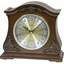 Rhythm Clocks Versaillies II Wooden Musical Mantel Clock