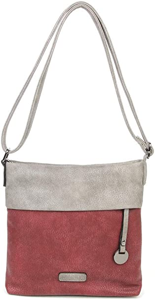 Hochweritge Damen Handtasche Umhängetasche Tasche schwarz weiß Schultertasche
