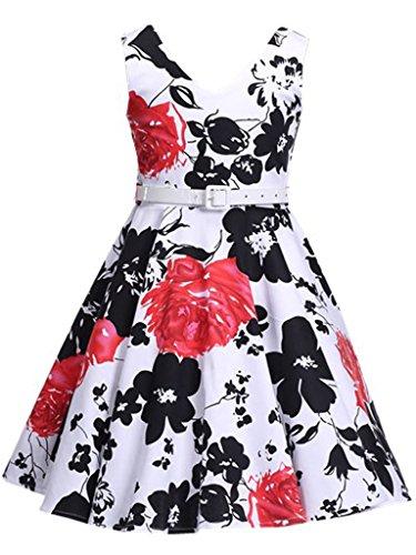 Happy Rose Girl's Dress Vintage Party Floral 16