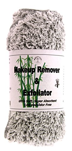 Makeup Remover and Exfoliator Bamboo Charcoal Cloth (1) Large - 1 Pack by Whole Life