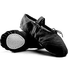 ZYZF Kids Girls Soft Canvas Ballet Dance Gymnastics Ballet Slipper Shoes Split-Sole Dance Flat for Girls (Toddler/Little Kid/Big Kid)
