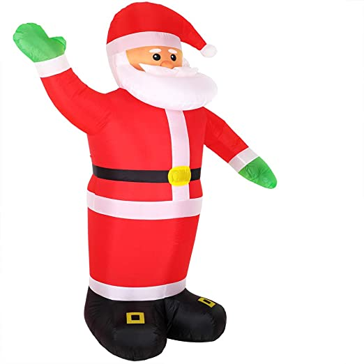 Monzana Papá Noel hinchable inflable de 250 cm decoración de Navidad iluminación con LEDs luces de exterior interior