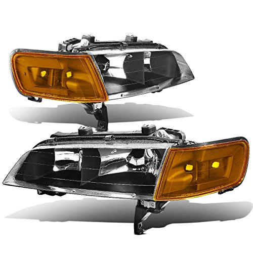 DNA Motoring HLCLHA94BKAM DNA Motoring HLCLHA94BKAM Headlight Assembly (Driver & Passenger Side) (94 Accord Headlights Driver Side compare prices)
