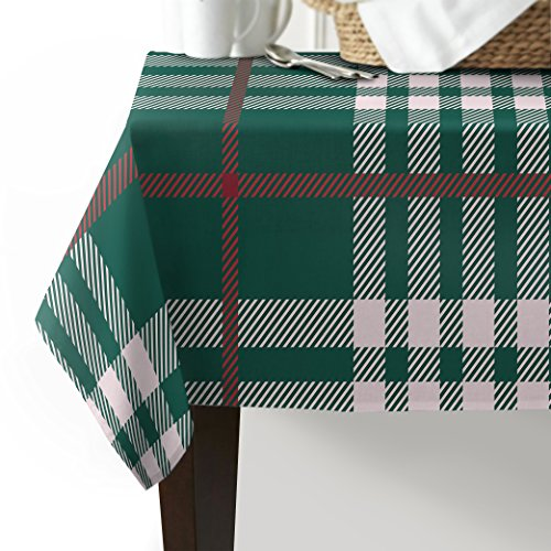 (Edwiinsa Tablecloth Scottish Plaid pattern Table Cover Cloth Cotton Linen Fabric Home Decorative Dinner Picnic Table Cloth(53 Inch x 70 Inch))