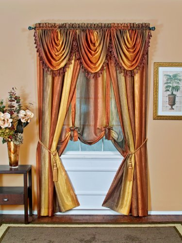 Achim Home Furnishings Ombre Waterfall Valance,