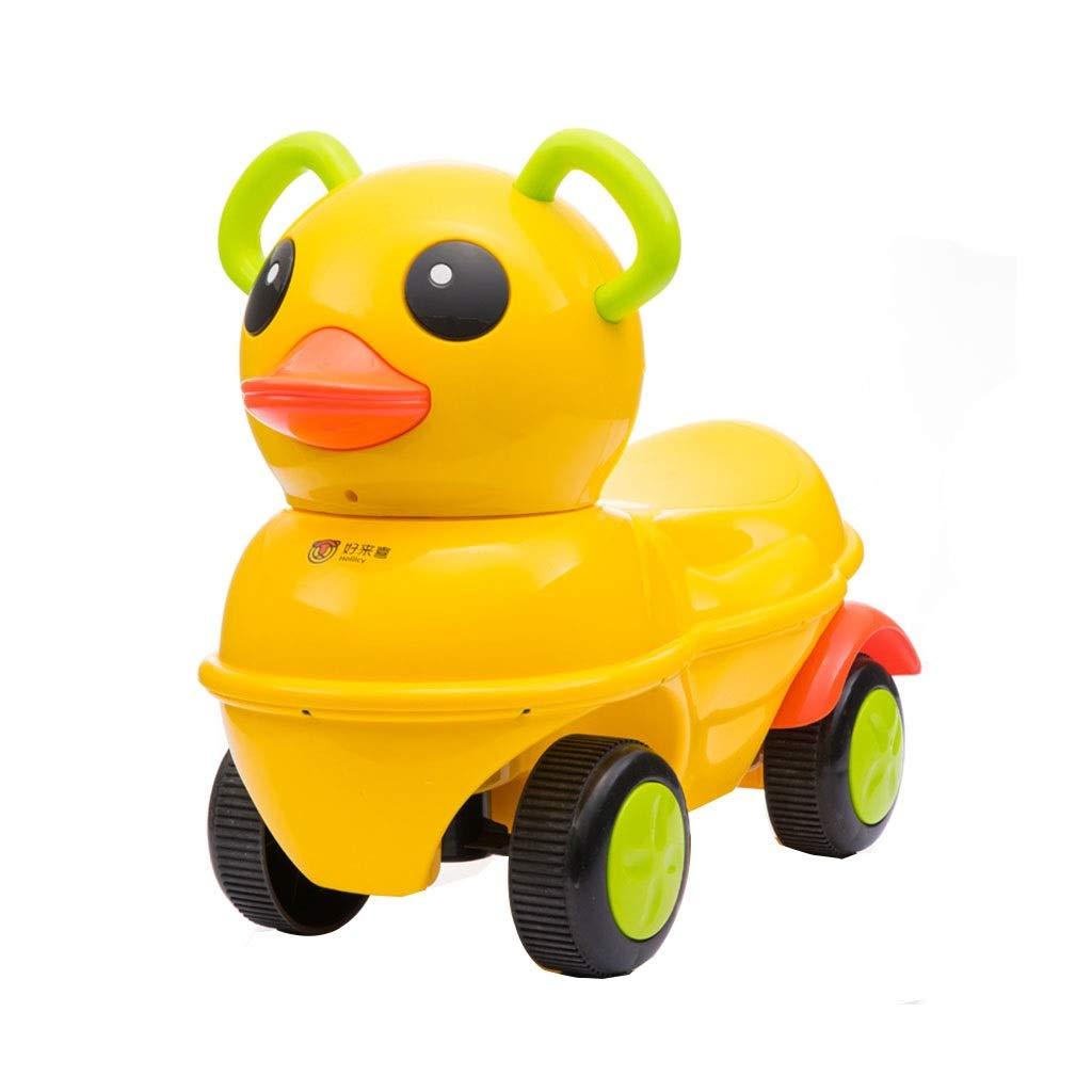 子供用四輪車 ツイストカー スイング玩具車 スライディングウォーカー 音楽 サイレントタイヤ 耐荷重20kg 1-3歳 ギフト (Color : Yellow, Size : 27.5*42.7*54.2cm) 27.5*42.7*54.2cm Yellow B07PLG1Q1L