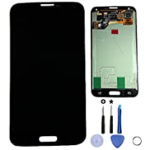 LCD display Touch Screen Digitizer Assembly for Samsung Galaxy S5 i9600 G900R G900F G900H G900M G9001 + Free tools (Black)