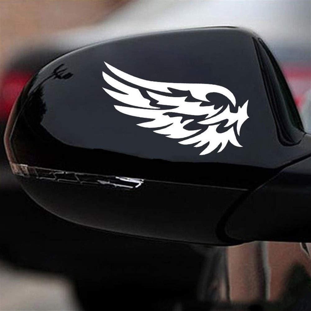 Color Name : Black MISDD Autoaufkleber 2 St/ück Schutzengel Fl/ügel Sch/öner Reflective Auto-Aufkleber Mode Auto-R/ückspiegel for Streifenunterabschnitt CT-530