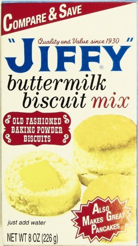 (Jiffy Buttermilk Biscuit, Pancake, Waffle Mix, 7 Oz, Pack of 6)
