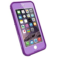 """LifeProof FRE iPhone 6 ONLY Waterproof Case (4.7"""" Version) - Retail Packaging -  PUMPED PURPLE (LIGHT LILAC/DARK LILAC)"""
