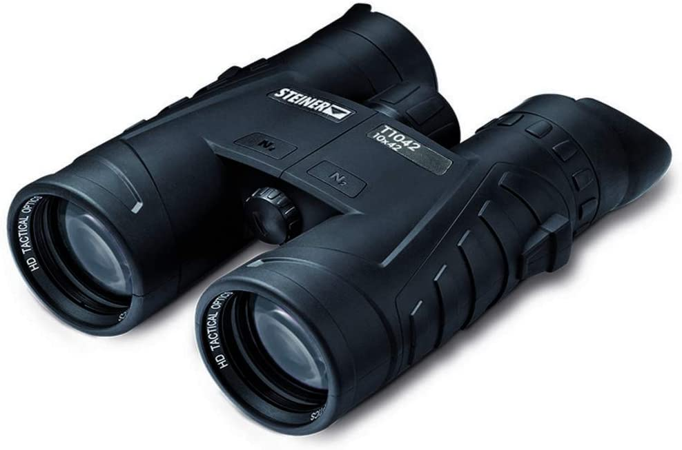 Steiner T-Series T1042 (10x42) - Tactical Binoculars - Compact, Lightweight & Streamlined - High-Definition Optic - Fogproof - Waterproof - Shockproof