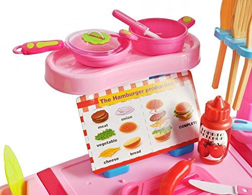 Iso Trade K/üche Spielk/üche XXL Kunststoff Bunt 40 Teile Licht /& Ger/äusche Kinder Haushalt #6723