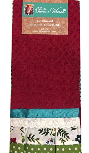 The Pioneer Woman Kitchen Towel Kari Diamond 2 Piece Set
