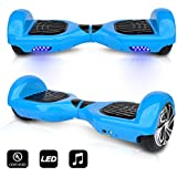"""CHO 6.5"""" inch Wheels Original Electric Smart Self Balancing Scooter Hoverboard with Built-in Bluetooth Speaker- UL2272 Certified (Blue)"""