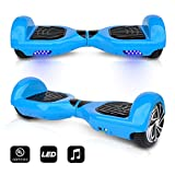 CHO 6.5' inch Wheels Original Electric Smart Self Balancing Scooter Hoverboard With Built-In Bluetooth Speaker- UL2272 Certified (BLUE)