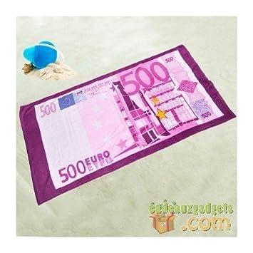 Serviette De Bain 500 Euros.Drap De Plage Avec Billets En Euro Amazon Fr Cuisine Maison