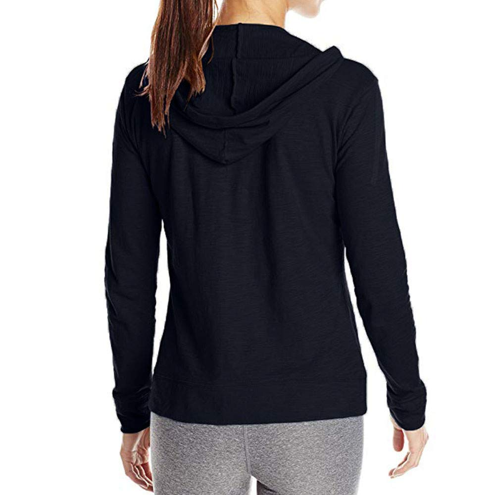 Pervobs Coat&Jacket, Clearance! Women Loose Long Sleeve Solid Classic Slim Full Zip Hoodie Thin Jacket Coat Pockets (XL, Navy) by Pervobs Women Coat&Jacket (Image #3)