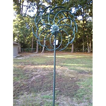 Amazon Com Sunray S Verdigris Wind Spinner With Solar