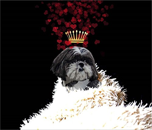 (Great Art Now Royal Love Pup - Shi Tzu by Tina Lavoie Laminated Art Print, 15 x 13 inches)