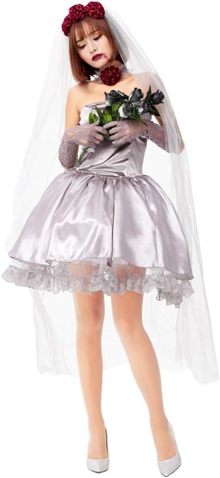 Disfraz Halloween Mujer Niña Adulto Plus Size Falda Corta Nupcial ...