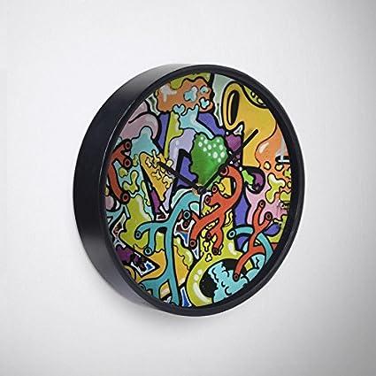 Amazon.com: Colvin Run Studio Retro 2 Wall Clock, 10 ...