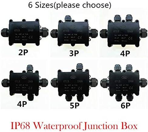 BE-TOOL IP68 caja de conexiones el/éctrica caja de conexiones externa color negro conectores impermeables para iluminaci/ón exterior Caja de conexiones impermeable negro