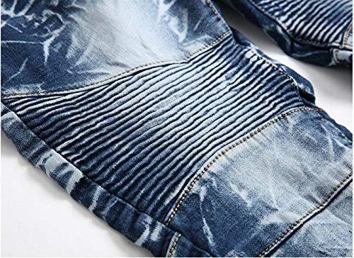 Originali Vecchi Hanno Cotone Ssig Alla Moda Da Estilo Classici Cowboy I Self Especial Ne Dritto Uomo Denim In Blau Jeans coltivazione qFHCTS