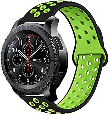 MroTech Correa Silicona de Reloj 22mm Universal Compatible para Samsung Gear S3 Frontier/Classic, Amazfit Pace/Stratos, zenwatch 1/2, Pebble Time, ...