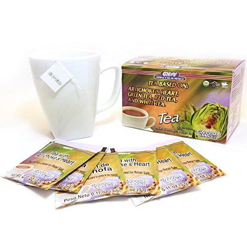 Artichoke Heart Tea  Te Corazon De Alcachofa  1 Box 30 Tea Bags  Green Tea  Red Tea And White Tea Gn V  1 Caja 30 Sobres