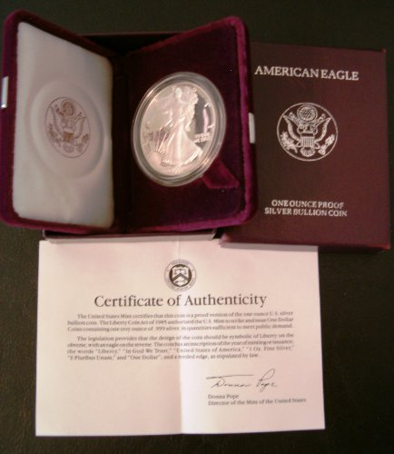 1991-S 1 oz Silver American Eagle - (Proof) by Silver Bullion