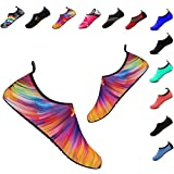 YALOX Water Shoes Women's Men's Outdoor Beach Swimming Aqua Socks Quick-Dry Barefoot Shoes for Surfing Yoga Exercise(Colorful,38/39EU)