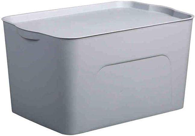 DaFei Caja de Almacenamiento de plástico con Tapa, Caja de Almacenamiento de plástico apilable para Guardar Juguetes de Ropa (Color : Gray, Tamaño : 45 * 29.5 * 13.8 14L): Amazon.es: Hogar