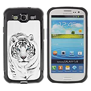 Jordan Colourful Shop@ Tiger Snow Leopard Winter Black White Fur Animal Rugged hybrid Protection Impact Case Cover For S3 Case ,I9300 Case Cover ,I9308 case ,Leather for S3 ,S3 Leather Cover Case