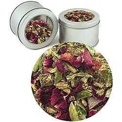 Ayurvedic Cooling-Pitta Tea Indian Pure Herbal Organic Loose Tea Leaf (Buy 1 Get 1)Tea Leaves ( Makes 40 Cups) 2.82 oz By Nargis