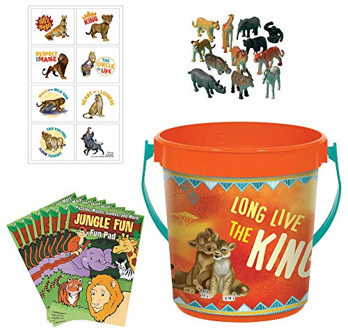 Party City Ultimate Lion King Party Favors, 48 Pieces, Includes Plastic Containers, Tattoos, Figurines, Activity Pads -
