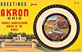 Akron Ohio Large Letter Greeting Firestone/Goodyear Tire Antique Postcard V22103