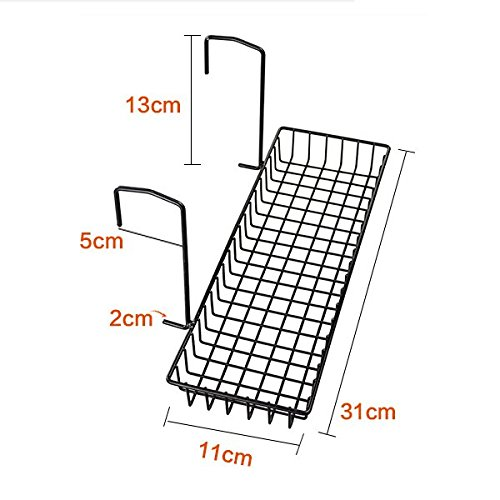 Chris Wang Iron Wire Outdoor Rectangle Plant Caddy Patio