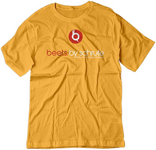 Price comparison product image BSW Youth Beets (Beats) by Schrute Headphones The Office Shirt XS Gold