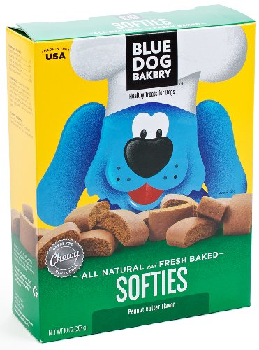 Blue Dog Bakery Natural Soft Dog Treats, Peanut Butter Flavor Softies, 10-Ounce Boxes (Pack of 6), My Pet Supplies