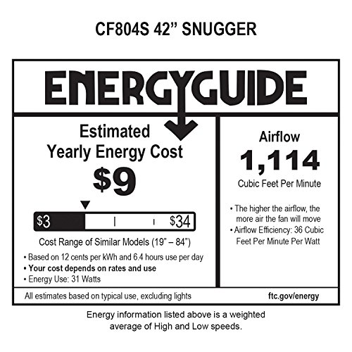 Emerson Ceiling Fans CF804SORB Snugger Low Profile Hugger Ceiling Fan, 42-Inch Blades, Light Kit Adaptable, Oil Rubbed Bronze Finish by Emerson (Image #1)