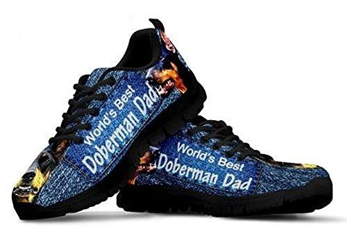 Black Sneakers Amazing Men's Print 11 Doberman Pinscher Casual Brand qv8Zv