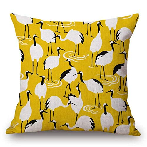 (Cushion Cover - Bird Pillow Covers Geometric Case Tree Colorful Yellow Cushion Home Decoration Pillowcase - Natural Soft Bike India Brown Holiday Zipper Leather Hipster Tapestry Teal Knitted)